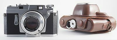 KONICA III 35mm FILM RANGEFINDER CAMERA WITH HEXANON 48mm F/2 LENS CLA'd
