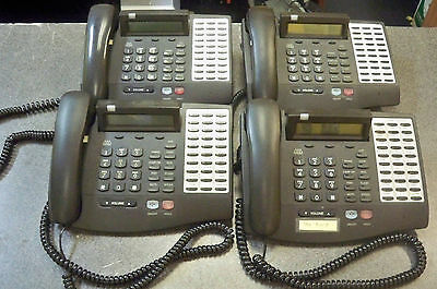 Lot of (4) Vodavi 3015-71 30-button Executive Key Display Phones with handsets