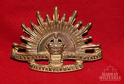Australian Commonweath Military Forces Cap Badge - Gold plated   (inv9501)