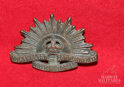 WW1 / WW2 Australian Commonweath Military Forces Collar Badge  (inv9503)