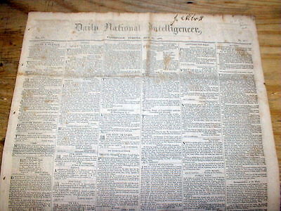 1832 Washington DC newspaper w 1st RAILROAD TRAIN ACCIDENT DEATH - Quincy MASS