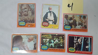 #4 Lot of 6 1977 20th Century Fox Star Wars Cards