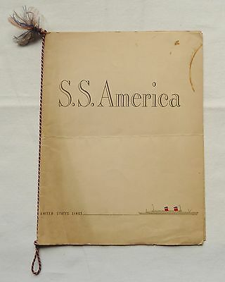 United States Line S.s. America Menu' 1947 With Signature