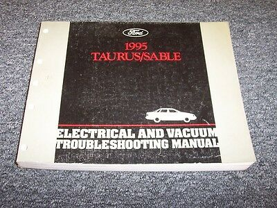 1995 Mercury Sable Electrical Wiring & Vacuum Diagram Manual GS LS 3.0L 3.8L V6
