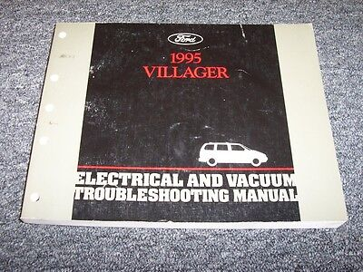 1995 Mercury Villager Electrical Wiring & Vacuum Diagram Manual GS LS 3.0L V6