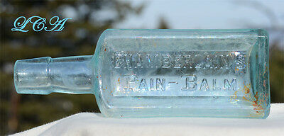 Old MID WESTERN antique PAIN BALM patent ~QUACK~ medicine bottle OPIUM