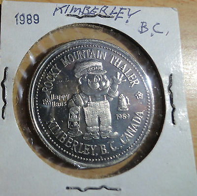 1989 Kimberley B.C. Rocky Mountain Thaler~Trade Dollar~The Station~C of Commerce