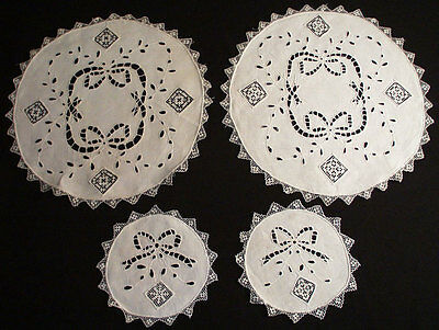 Antique Mixed Italian Handwork Cocktail 20 Coasters Round Placemats Hand Made