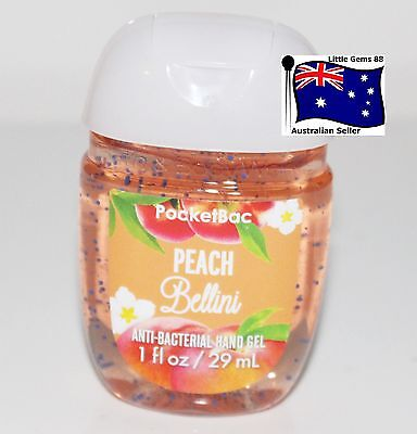 BATH & BODY WORKS * Peach Bellini * Pocketbac HAND GEL Sanitizer