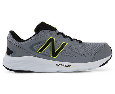 New Balance Men's Wide Fit  490v4 Running Shoe - Grey/Black/Lime