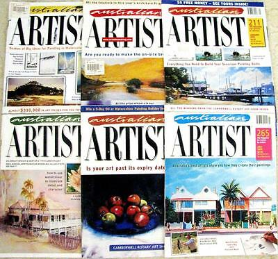 AUSTRALIAN ARTIST 6 MAGAZINES  drawing & painting