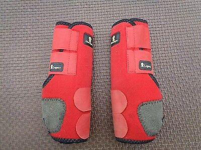 CLASSIC EQUINE Legacy RED Rear LARGE Sports Medicine Boots ~ Horse Tack