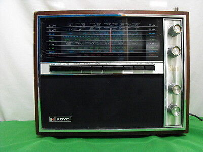 Koyo Ktr-1661 Am Fm Mb Lw Air Police Sw Shortwave Radio Multi Band 1970 Japan