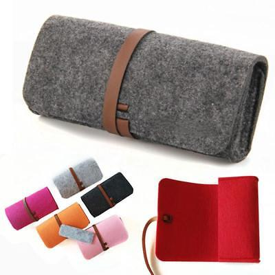 Eyeglass Pouch Felt Glasses Case Sleeve Cosmetic Bag Soft Pencil Candy Color Q