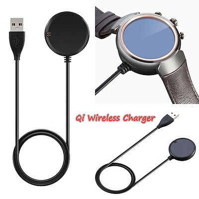 Qi Wireless Watch Charger Charging Dock Pad + USB Cable For ASUS Zenwatch 3