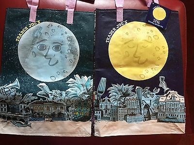 2 - 2016 Holiday  Trader Joe's BAGS reusable Shopping grocery Tote ECO bags NWT