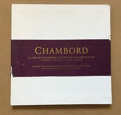 Original 2005 Chambord Liqueur 'Volume 1: Cocktails & Volume 2: Cuisine' Books