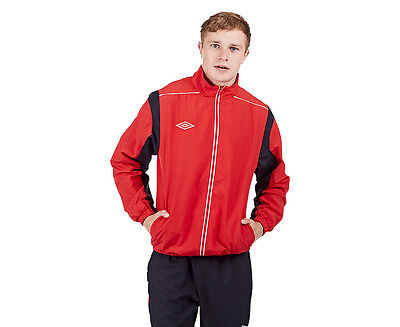 Umbro Men's Woven Jacket - Vermilion/Black/White