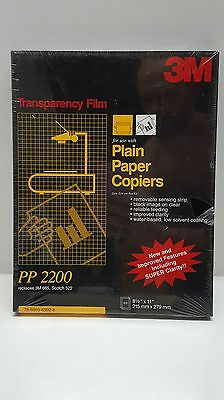 3M Transparency Film PP2200 100-sheets NEW/SEALED for Copiers