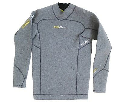 Gul 3Mm Rash Vest Code Zero Thermo Top L/s Wetsuit Neoprene Grey S M L Xl