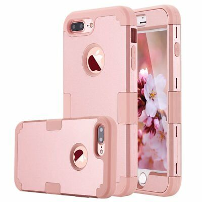 Apple iPhone 7 Plus 8 Plus Case Hybrid Hard Silicone Heavy Duty Shockproof Cover