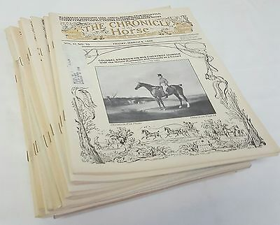 Lot of 20 Issues of mostly 1988 CHRONICLE OF THE HORSE Magazines