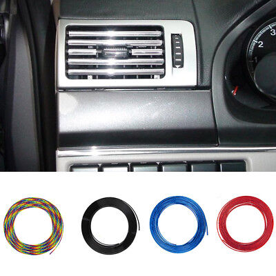 6Color Car Interior Decor Door Chrome Moulding Trim Strip U Style Decoration 3 M
