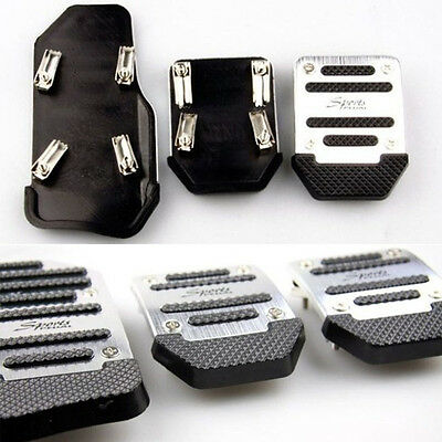 UK Universal Aluminium  Sparco Racing Non-Slip Manual Car Pedals Pad  3X