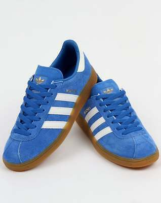 ddaaace8720 adidas Originals - Adidas Munchen Trainers in Royal Blue   White suede gum  SALE