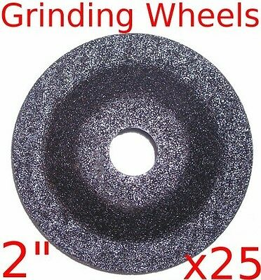 "(box of 25) 2"" Mini Air Angle Grinder Grinding Wheels fits tools mac jet"