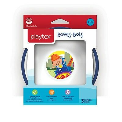 Playtex - Comfort Mealtime Bowls 3-Pack - Neutral, Styles May Vary