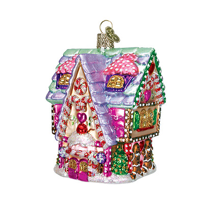 20029 Cupcake Cottage Glass Ornament Old World Christmas Gingerbread-Style House