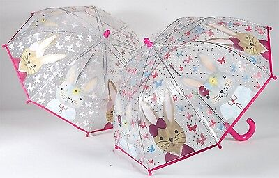 Floss & Rock Colour Change Umbrella Bunny Rabbit Have Fun In The Rain Girls Gift
