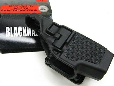 BLACKHAWK! Black Basketweave SERPA Level 2 RIGHT Hand Holster Fits TASER X-26!