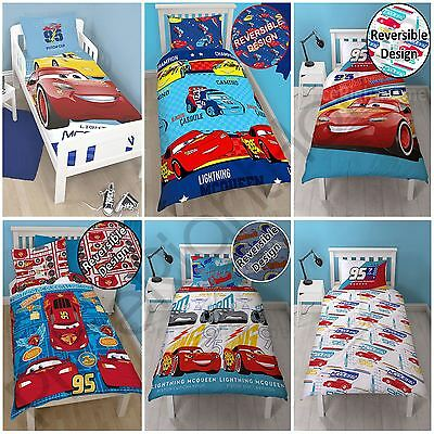 Disney Cars Single Double Duvet Cover Set Boys Kids - Piston, Lightning Mcqueen
