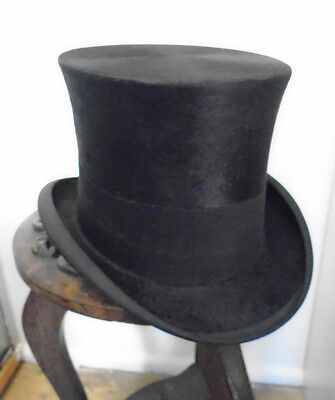 Stunning Antique / Vintage Silk Plush Top Hat - 'Superior Manufacture London'