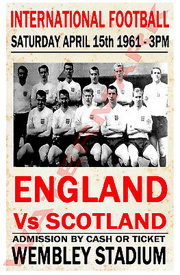 England - Vintage Football Poster POSTCARDS - Choose from list