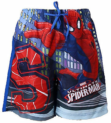 Boys Kids Childrens Spiderman Beach Bermuda Summer Swimming Shorts Age 2-8