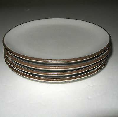 """Vintage Heath Opaque White 4 Coupe Bread & Butter Plates 6 1/4"""""""