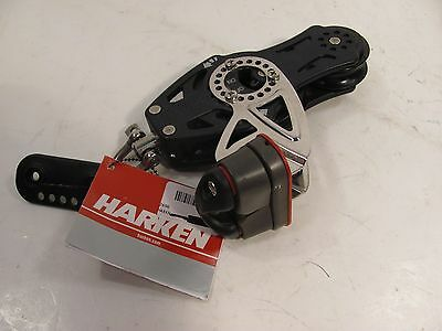 "HARKEN  2696 75mm CARBO RATCHET BLOCK WITH CAM AND FIDDLE for 1/2 "" line"