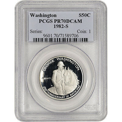 1982-S US George Washington Commemorative Proof Silver Half Dollar - PCGS PR70