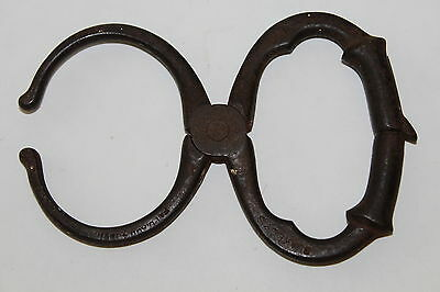 Blakely's Police Nippers 1891 Come Along Handcuffs Antique Rare Handcuff Vintage