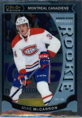 2015-16 O-Pee-Chee Platinum Marquee Rookie #M39 Mike McCarron Montreal Canadiens