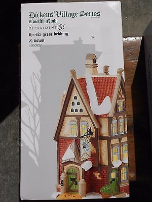 DEPT 56 DICKENS' VILLAGE Twelfth Night THE SIX GEESE BEDDING & DOWN NIB
