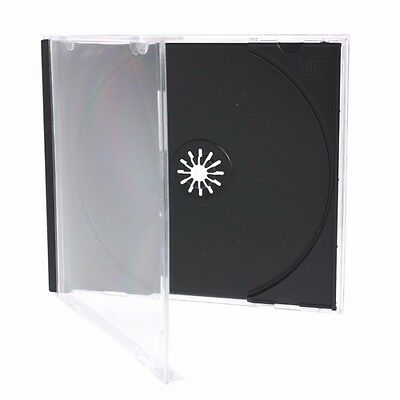 100 Pcs Black Single Standard CD DVD Jewel Case 10.2mm