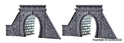 Kibri Z Scale 36900/6900 Two Stone Tunnel Portals Single Track *NEW $0 Ship