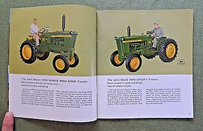 1964 John Deere Model 1010 Utility & Single  Row-Crop Tractor Brochure Catalog