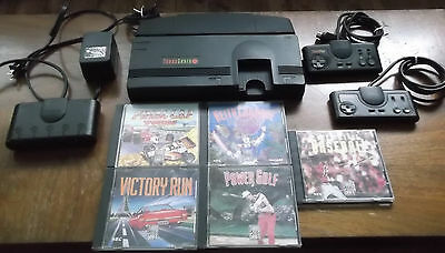 turbo grafx 16 console lot with 5 games 2x controllers very clean no dust LOOK!