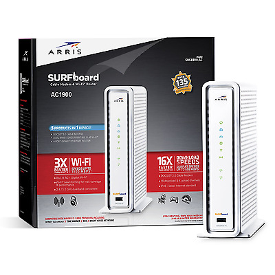 ARRIS SURFboard SBG6900AC DOCSIS 3.0 Cable Modem WiFi AC1900 Router internet