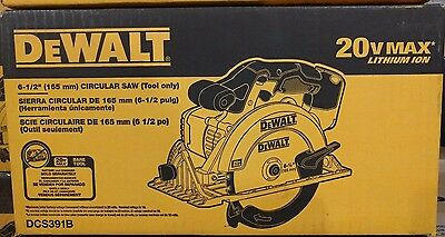 "DEWALT DCS391B 20V MAX Li-Ion Cordless 6-1/2"" Circular Saw (Tool Only) - NEW !!!"